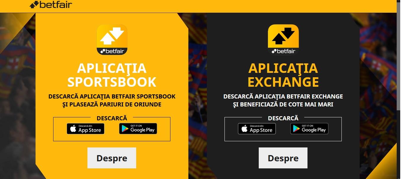 Betfair app o singura aplicatie comuna