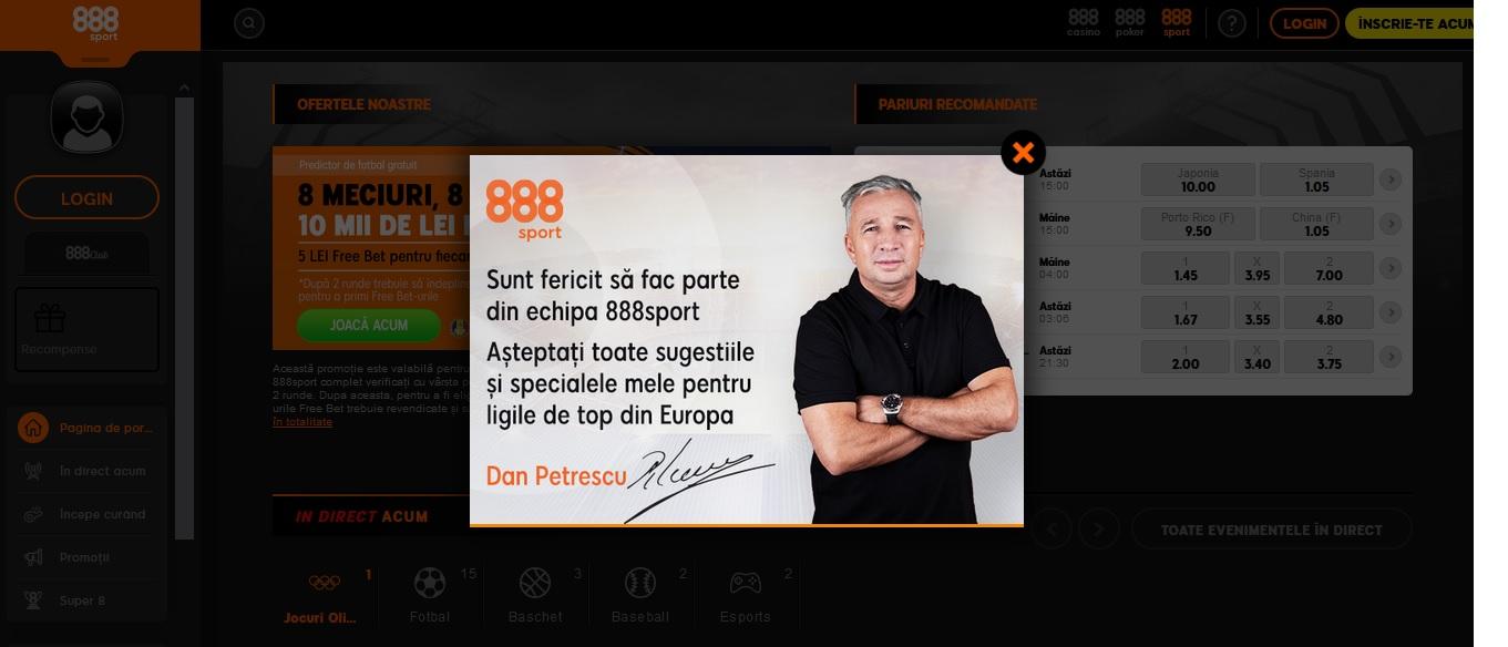 Prezentare agentie de pariuri 888sport