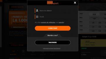Procesul de autentificare pe 888sport