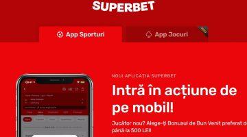 Superbet are cea mai simpla aplicatie mobila