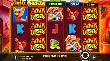 Chilli heat un slot picant la cati ardei castigatori are