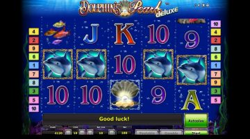 Dolphin's Pearl Deluxe un slot plin de perle cu castig mare