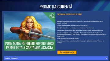 Baumbet organizeaza turneul Playson cu premii de 60000 euro