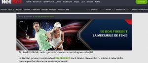 Ai 50 ron freebet pe Netbet daca pierzi la Australian Open