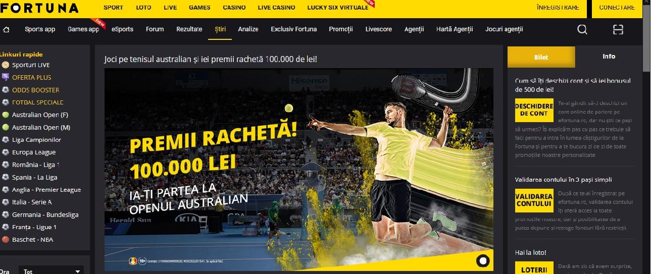 E pacat sa ratezi premiile Fortuna de la Australian Open