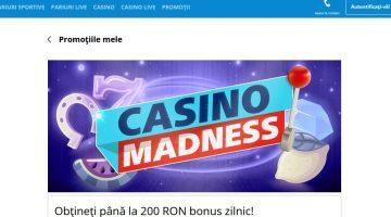 Joaca la casino Sportingbet si ai zilnic 200 ron bonus