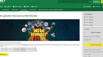 La Unibet mesele bingo Wild Wonder vin cu rotiri gratis