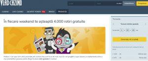 La Vlad Casino prinzi 4000 de rotiri gratuite in weekend