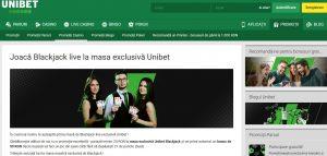 Mesele exclusive Unibet de blackjack ofera senzatii tari