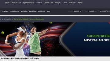 Nu rata cele 3 free bet de 50 la Australian Open cu Netbet