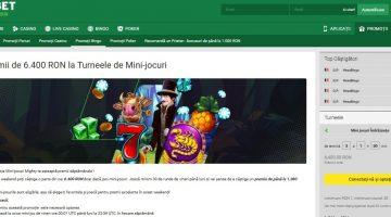 Super premii la turneele de mini-jocuri la Unibet