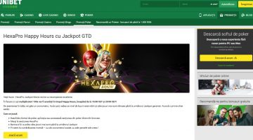Turneele HexaPro vin cu jackpot la happy hour Unibet