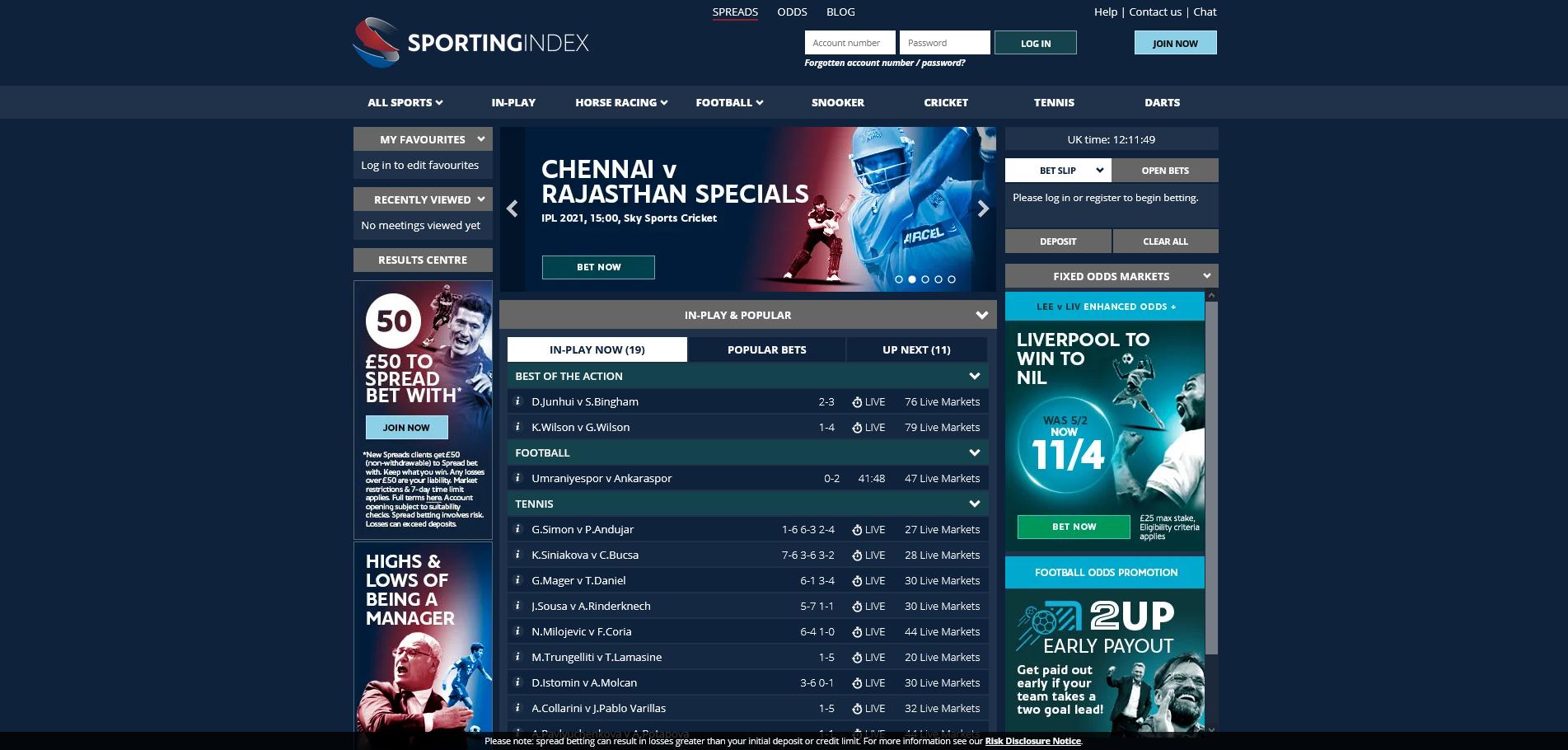 Sporting index