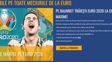 Baumbet iti dubleaza cotele la toate meciurile de la EURO2020