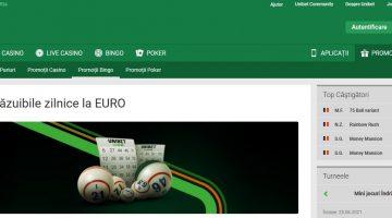 Bilete la bingo Unibet cand pariezi la meciurile EURO2020