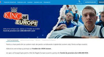 Devino regele Europei la pariuri alaturi de Sportingbet