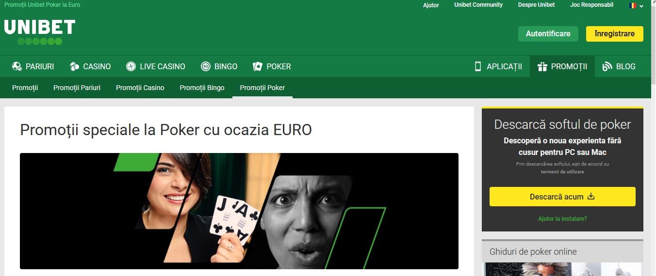 Europremii la turneele de poker desfasurate pe Unibet