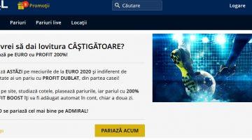 Pariaza pe Admiral la EURO2020 si ai profit boost si freebet
